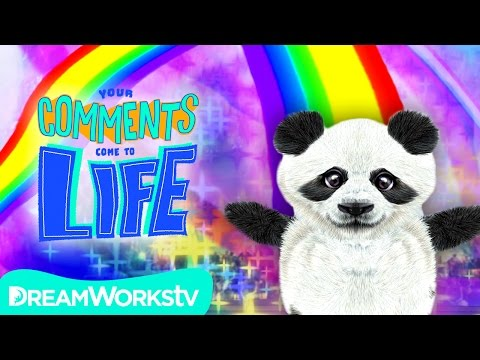 PANDA FARTS RAINBOWS | YOUR COMMENTS COME TO LIFE!