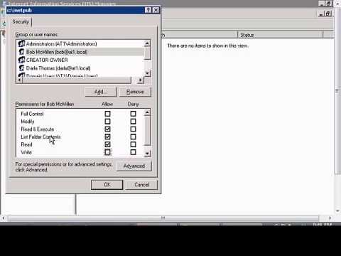 Setup permissions to access FTP site in Windows IIS