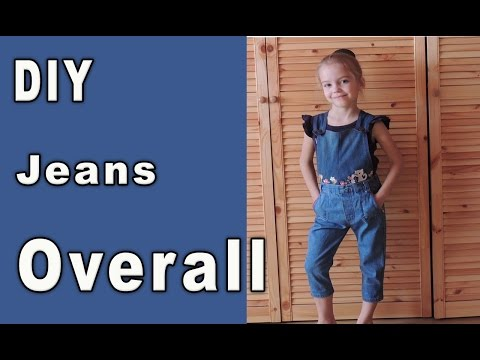 DIY: Convert Old Jeans Into Dungaree/Overalls