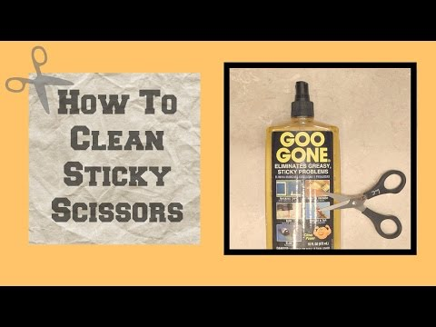 Quick Crafting Tip - How To Clean Sticky Scissors