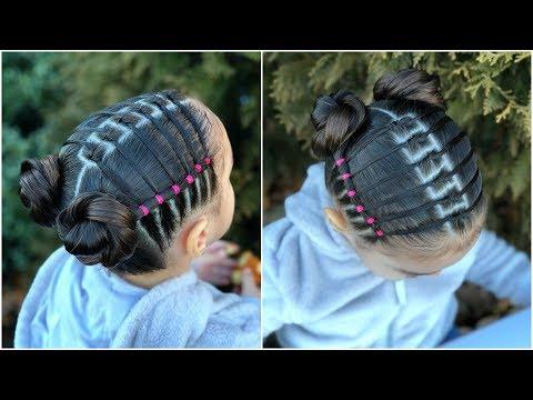 Peinado Para Ninas Con Nudos Y Ligas Peinados Faciles Y Rapidos Para