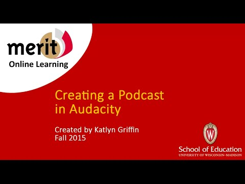 Creating a Podcast In Audacity
