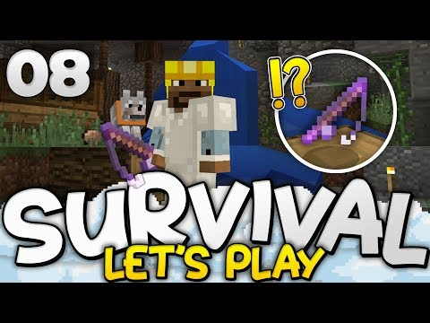 CRAZY NEW ENCHANTMENT!!! - Survival Let's Play Ep. 08 - Minecraft Bedrock (PE W10 XB1)
