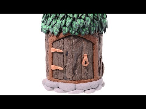 Fairy House with Polymer Clay