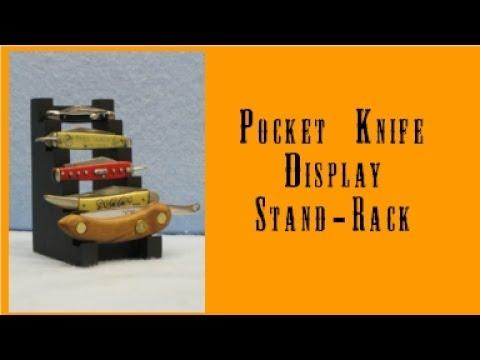 Pocket Knife Display Stand - Rack