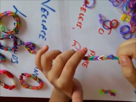Loom bands or rubber bands bracelets in a simple way