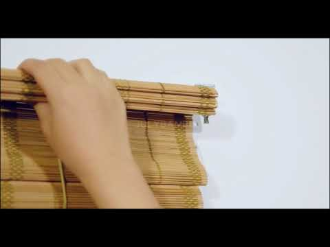 bamboo blinds installation video