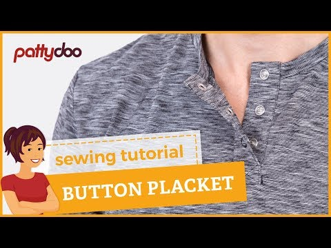 How to sew a press button placket