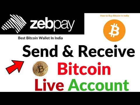 How To Send Bitcoin And Receive Bitcoin India Zebpay Bitcoin Wallet Full Process Hindi/Urdu