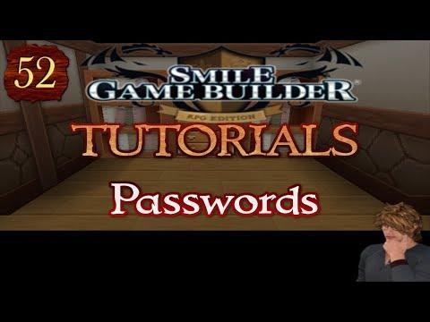 Smile Game Builder Tutorial #52 - Passwords