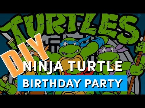 Our DIY Ninja Turtle Birthday Party - Ninja Shells, Cookies, Party Games and More