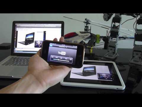 iPAD iPhone 3GS Macbook Pro speed test using Huawei E5830 mifi playing Youtube