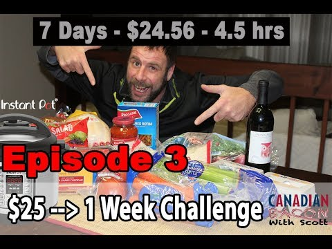 Instant Pot 1-Week $25 Challenge – Episode 3 of 4 - The Stretch!