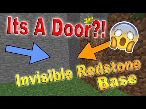 How to make a Minecraft Invisible Redstone Door | Create a secret base