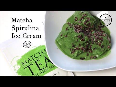 Matcha Spirulina Ice Cream   Homemade Recipe