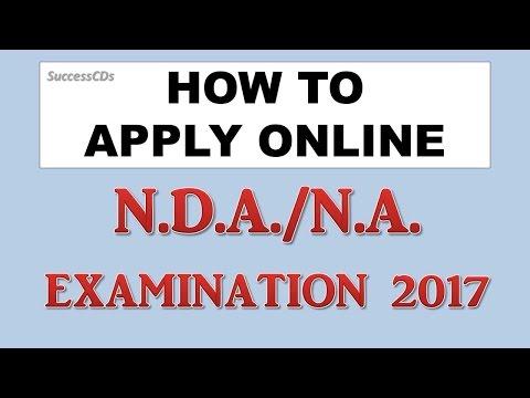 NDA 2017 Application Process   How to apply NDA 2017   Step by Step NDA NA Application procedure
