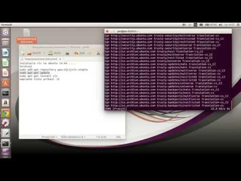 Tutorial install VLC payer Ubuntu 14.04 CZ