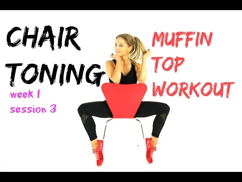 MUFFIN TOP  WORKOUT - CHAIR TONING -  melt off that muffin and sculpt around your middle.