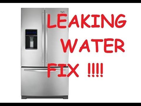 Whirlpool refrigerator repair- ice in freezer- water on floor Fix Maytag, Kithcenaid, Kenmore