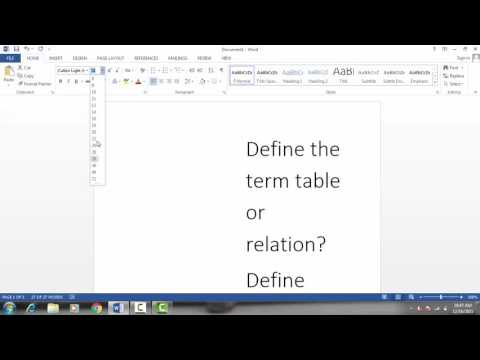 MS WORD 2013 | 4-How to change Font Size, Font Style Options in WORD [Urdu/Hindi]