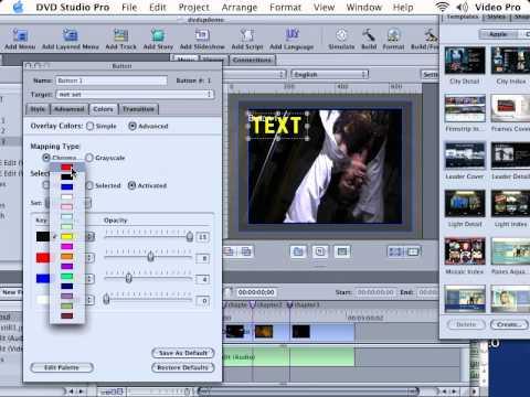 DVD Studio Pro Tutorial | 101 | Creating Basic Photoshop Menus