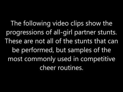 All-Girl Stunt Progressions for Coaches and Judges' Clinics