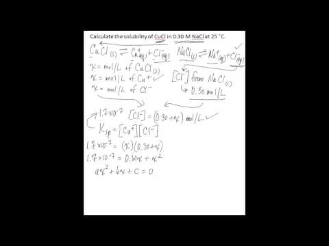 Calculate solubility using Ksp when a common ion is present