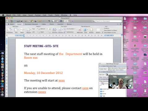 How to DO IT Mail Merge in Word 2011 for mac Part 1