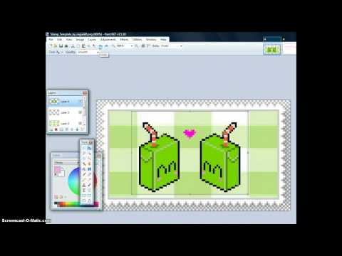 How to make a deviantart stamp using paintnet