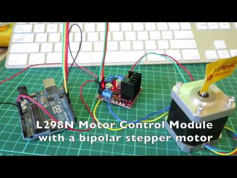 Arduino stepper motor control with L298N