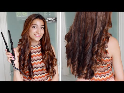 Hannah's Hair Tutorial - Curls With A Straightener | Amelia Liana