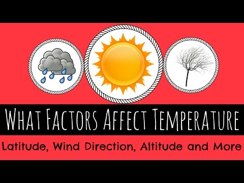What Factors Affect Temperature - Latitude, Altitude, Wind and More - GCSE Geography