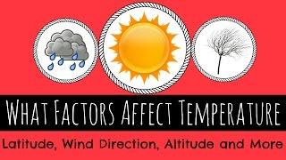 What Factors Affect Temperature Latitude Altitude Wind And More Gcse