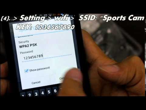 How to set SJ4000 Sports Camera on wifi mode