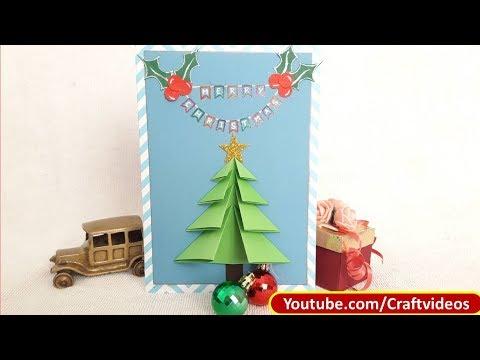 How to make very easy Christmas Tree Card | Christmas Tree Card