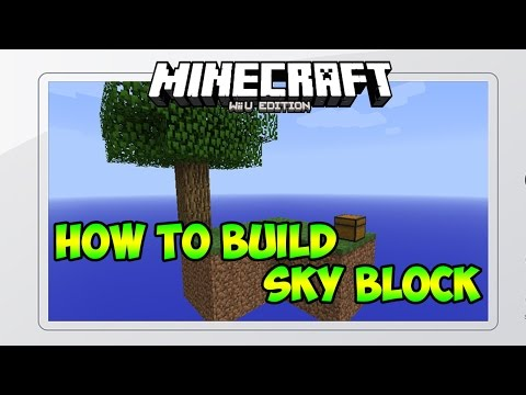 Minecraft Wii U: How to Build Sky Block Survival Map