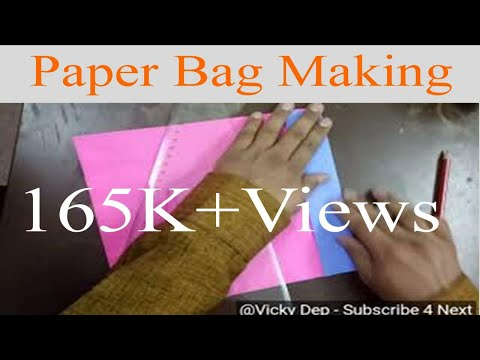 Paper bag making at home in simple way