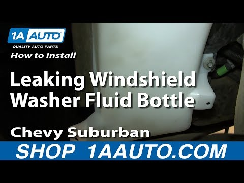 How To Install Replace Leaking Windshield Washer Fluid Bottle 2000-06 Chevy Suburban Tahoe GMC Yukon