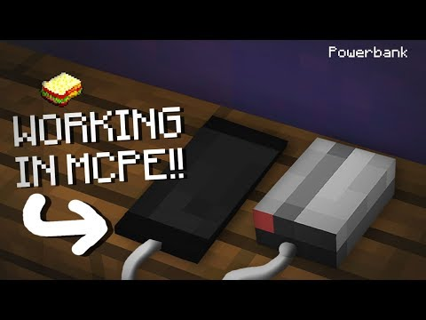 Minecraft, MCPE | How to make a Working Powerbank