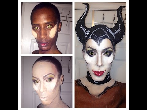 Maleficent inspired makeup and lip sync