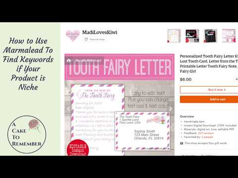 Writing Titles and Tags For Niche Products on Etsy using Marmalead.