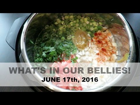 WHAT'S IN OUR BELLIES | 6.17.2016