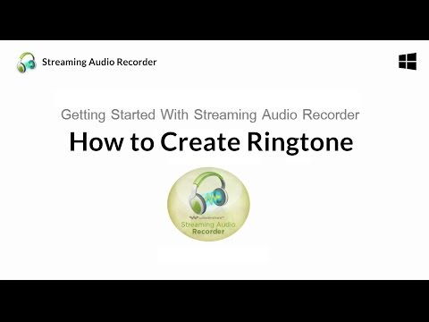 How to Create Ringtone with Streaming audio recorder