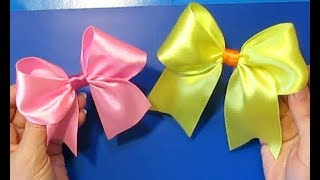 КАК С ДЕЛАТЬ БАНТ ДЛЯ ВОЛОС/как красиво завязать бантик/самый простой способ/how To Make A Hair Bow