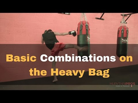 Muay Thai Heavy Training Tips - Basic Bag Combinations