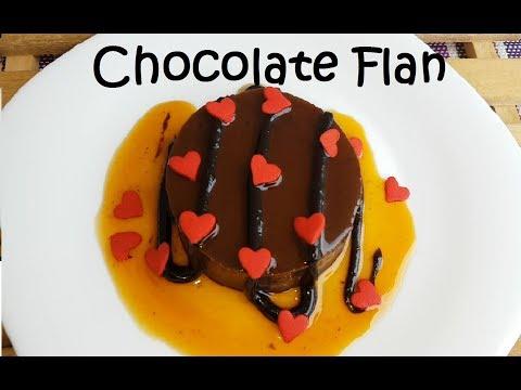 Chocolate Flan | Chocolate leche Flan recipe