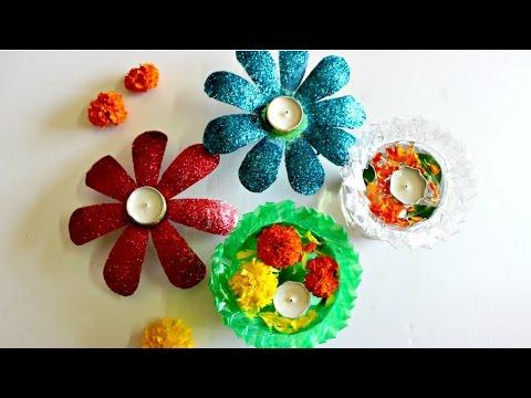 Diwali Decoration Idea Using Only 2 Plastic Bottles