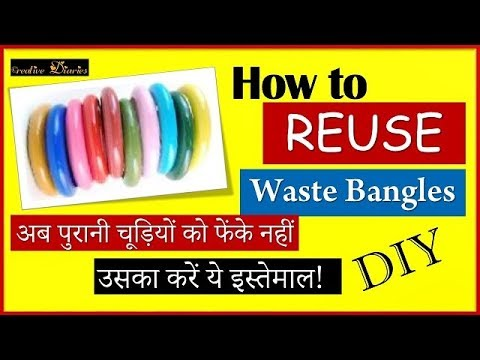 How to reuse old waste bangles at home I Bangle Reuse Idea I Creative Diaries