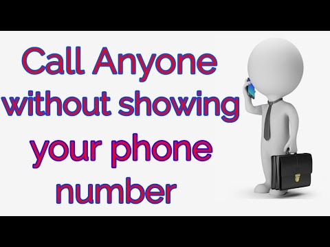 call Anyone person without showing your phone number  100% working