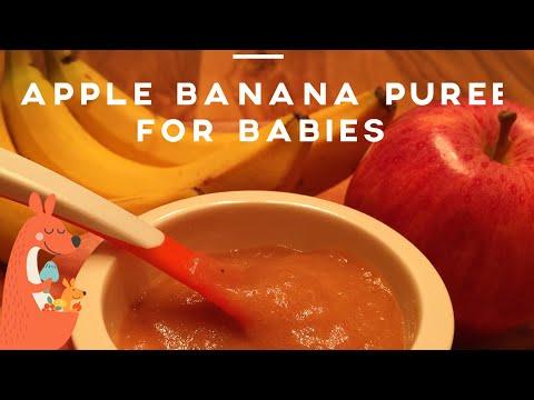 Homemade Apple Banana Baby Puree (6+ Months)